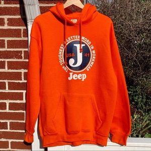 Jeep USA Orange Sweatshirt